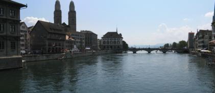 Zürich Brücke hugin panorama stitch
